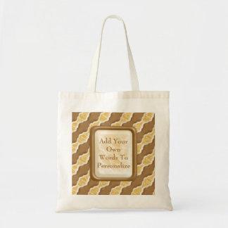 Wavy Ripples - Chocolate Marshmallow Tote Bag