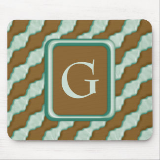 Wavy Ripples - Chocolate Mint Mouse Pad