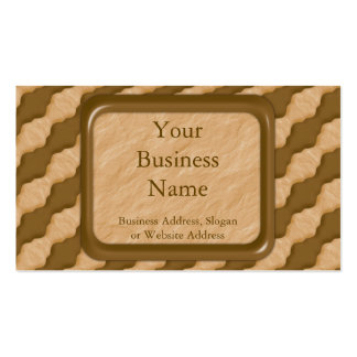 Wavy Ripples - Chocolate Peanut Butter Double-Sided Standard Business Cards (Pack Of 100)