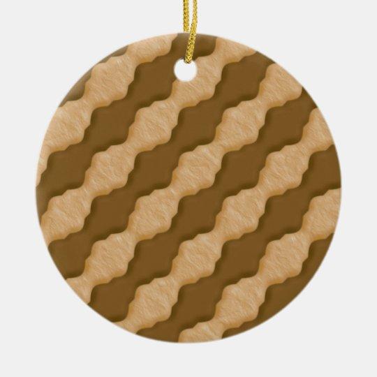 Wavy Ripples - Chocolate Peanut Butter Ceramic Ornament