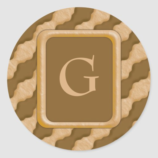 Wavy Ripples - Chocolate Peanut Butter Classic Round Sticker