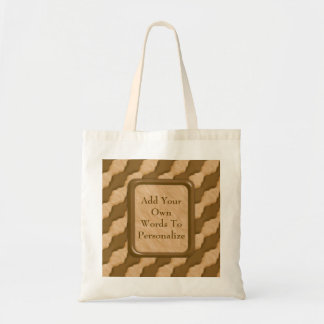 Wavy Ripples - Chocolate Peanut Butter Tote Bag