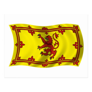 Wavy Scotland Flag Postcard