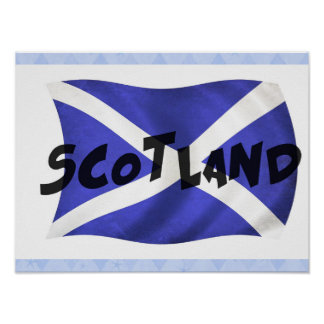 Wavy Scotland Flag Poster