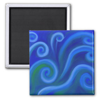 Wavy Sea 2 Inch Square Magnet