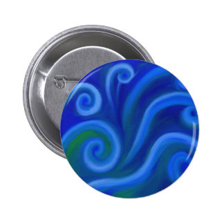 Wavy Sea Pinback Buttons