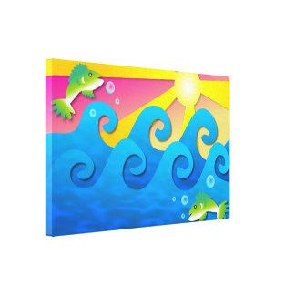 Wavy Sea Canvas Prints