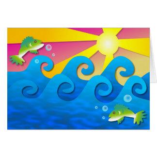 Wavy Sea Card