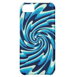 Wavy Sea Pattern (Midnight Blue, Blue, Cyan) Case For iPhone 5C