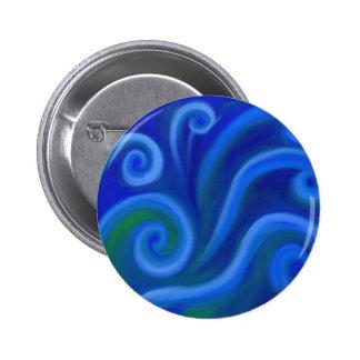 Wavy Sea Pinback Button