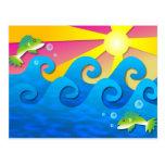 Wavy Sea Postcards