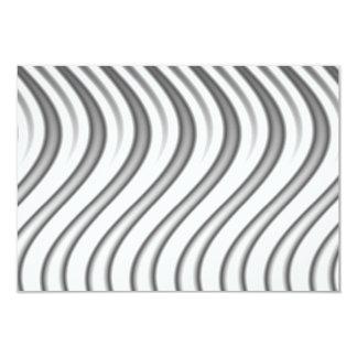 wavy silver flames pattern card