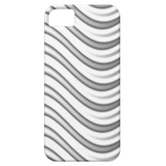 wavy silver flames pattern iPhone 5 cover