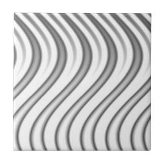 wavy silver flames pattern ceramic tile