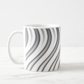 wavy silver flames pattern coffee mug