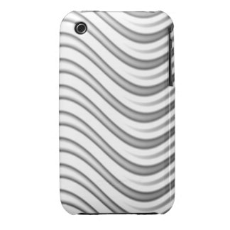 wavy silver flames pattern iPhone 3 cover