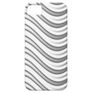 wavy silver flames pattern iPhone SE/5/5s case