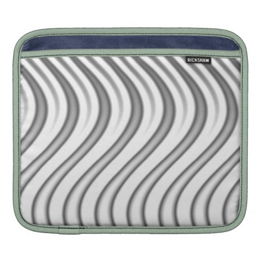 wavy silver flames pattern sleeve for iPads
