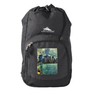 Wavy skyline of Sydney Backpack