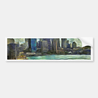 Wavy skyline of Sydney Bumper Sticker