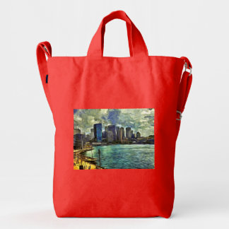 Wavy skyline of Sydney Duck Bag