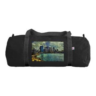 Wavy skyline of Sydney Duffle Bag