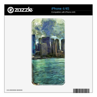 Wavy skyline of Sydney iPhone 4 Decals