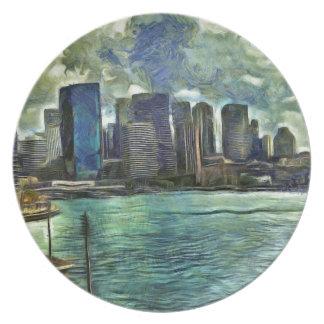 Wavy skyline of Sydney Plate