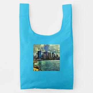 Wavy skyline of Sydney Reusable Bag