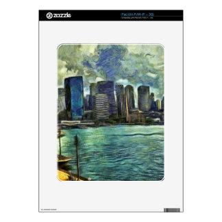Wavy skyline of Sydney Skins For The iPad