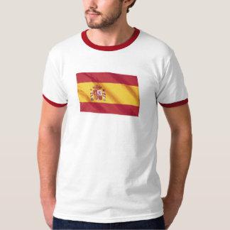 Wavy Spain Flag T Shirt