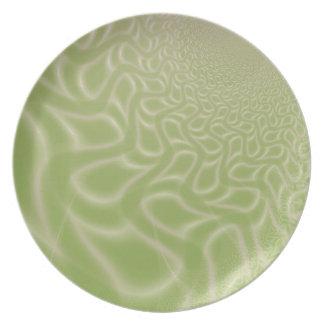 Wavy Squares Melamine Plate