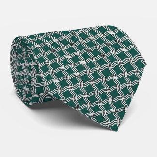 Wavy Squares Pattern Neck Tie
