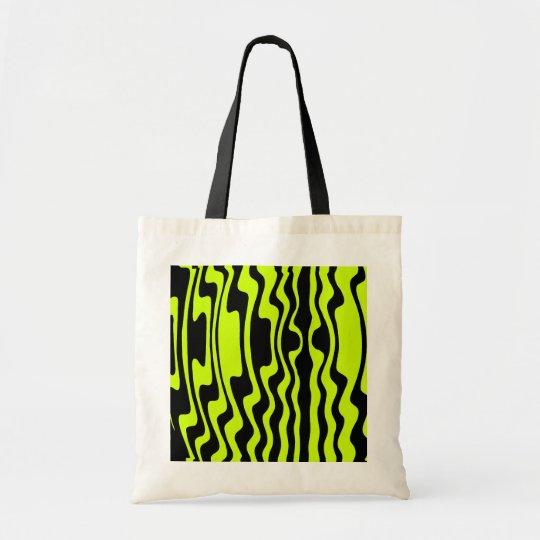 Wavy Stripe - Black and Green I Tote Bag
