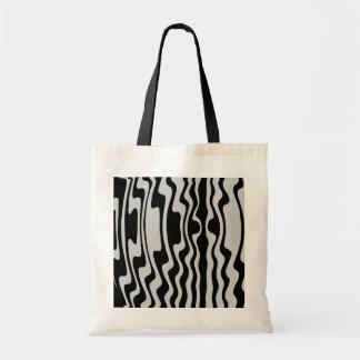 Wavy Stripe - Black and Light Grey Tote Bag