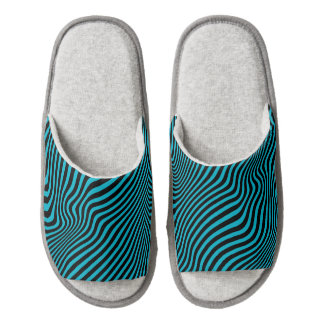 Wavy Stripes ....choose your own accent color. Pair Of Open Toe Slippers