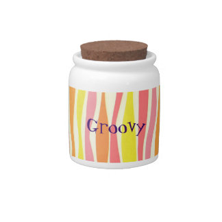 Wavy Stripes Groovy Candy Dish with Lid