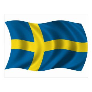 Wavy Sweden Flag Post Card