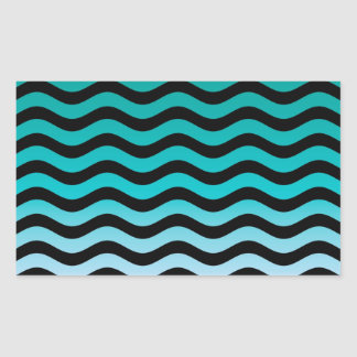 Wavy Turquoise Stripes Stickers