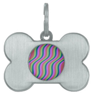 Wavy Urban Slide Stripes Pet Tag
