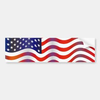 Wavy USA Bumper Sticker