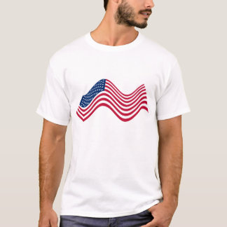 Wavy USA Flag Shirt