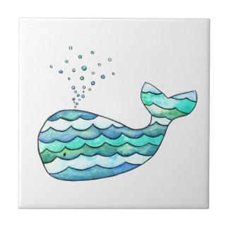 Wavy Whale Tile