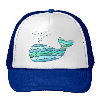Wavy Whale Trucker Hat
