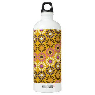 Wavy Yellow and Purple Circle Flowers Pattern SIGG Traveler 1.0L Water Bottle