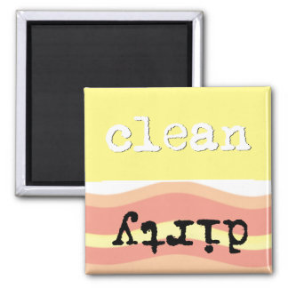 Wavy Yellow- Clean/Dirty Dishwasher Magnet