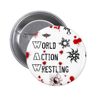 WAW Wrestling Pinback Button