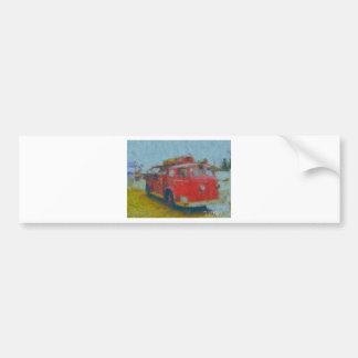 wawa old fire truck by hart bumper stickers