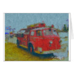 wawa old fire truck by hart greeting cards