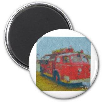 wawa old fire truck by hart magnet